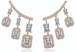 Jaipur Rose Bella Earrings Rose Gold