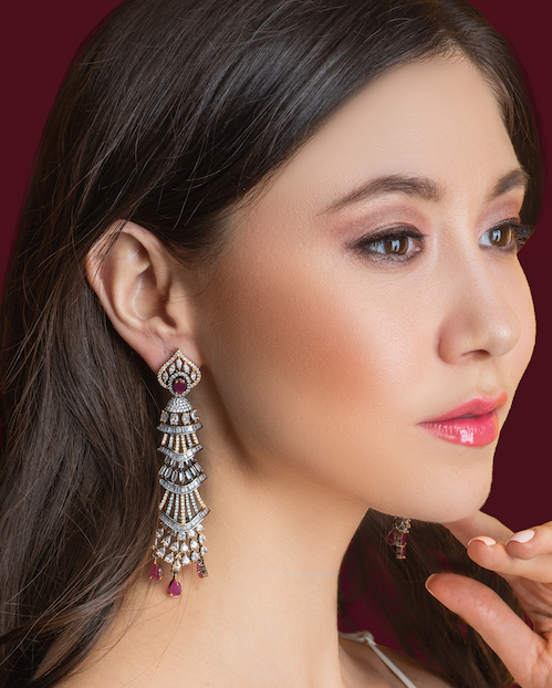 Milana Ruby Statement Earrings