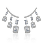 Jaipur Rose Bella Earrings White Gold