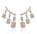 Jaipur Rose Bella Earrings Yellow Gold by Jaipur Rose Luxury Indian Jewellery
