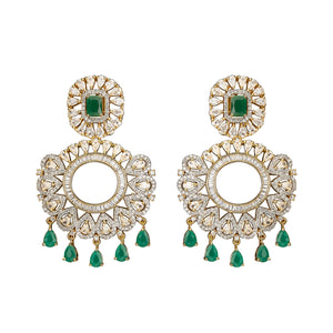 Jaipur Rose Jewelry Avani Earrings  Indian jewellery indian jewelry celebrity style bollywood wedding bride bridal party dubai women sexy green emerald