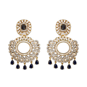 Jaipur Rose Jewelry Avani Earrings  Indian jewellery indian jewelry celebrity style bollywood wedding bride bridal party dubai women sexy sapphire