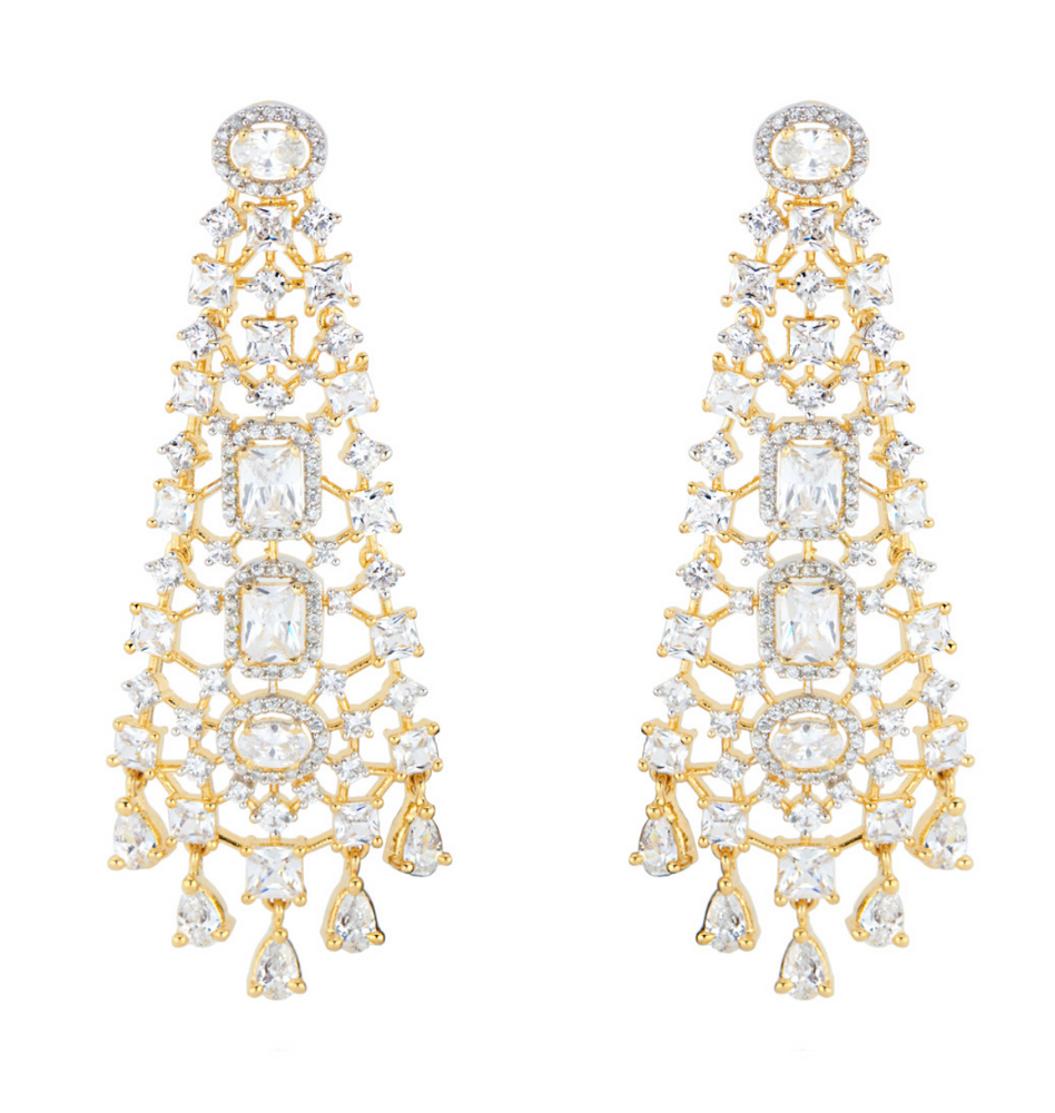 Rosalie Statement Earrings By Jaipur Rose