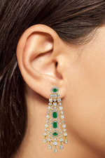Jaipur Rose Rosalie Earrings Indian jewelry CZ wholesale luxury statement celebrity bollywood earrings jewelry jewellery