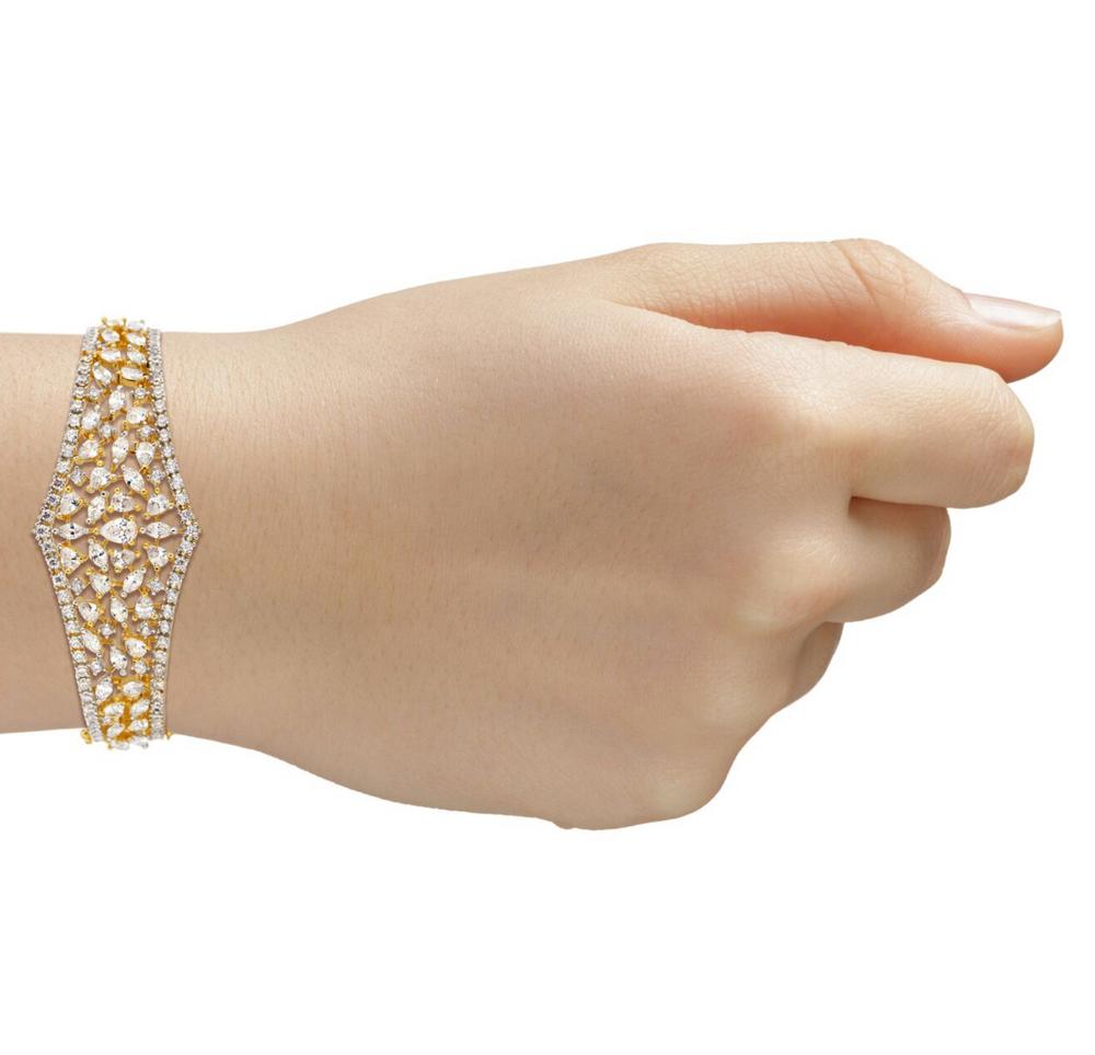 Sumaya bracelet white gold plated indian jewelry indian bridal jewellery celebrity style