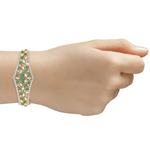 Sumaya Statement Bracelet With Green Gems