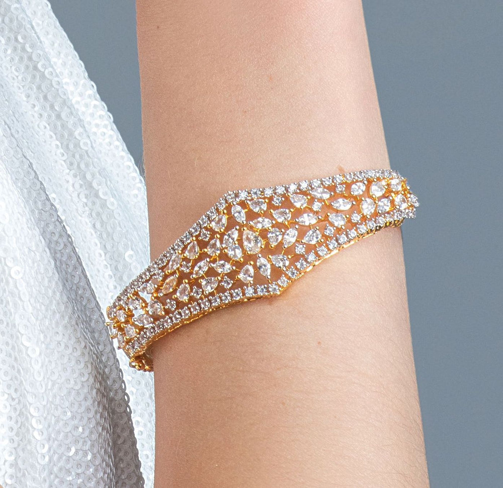 Sumaya Statement Bracelet Yellow Gold Plated