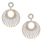 Asifa Designer Statement Earrings Yellow Gold