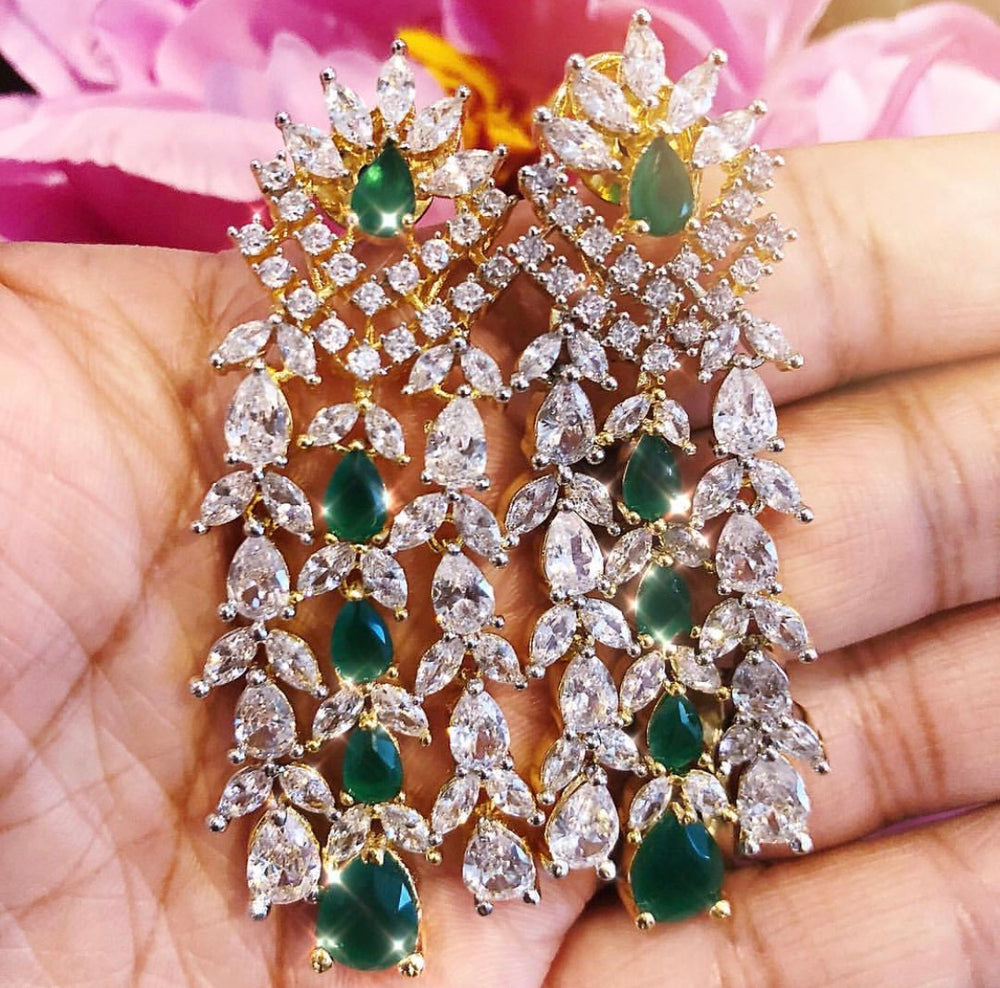 Ava Waterfall Drop Statement Earrings Indian Boho Luxury Jewelry