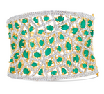 jhanvi cuff jaipur rose indian jewelry indian brde bridal jewelry prom jewelry formal bracelet emerald