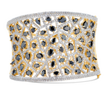 Jhanvi Statement Cuff In Onyx By Jaipur Rose