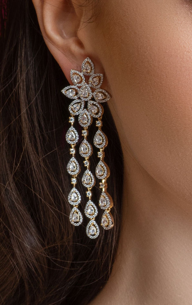 Kimaya Statement Drop Chandelier Earrings