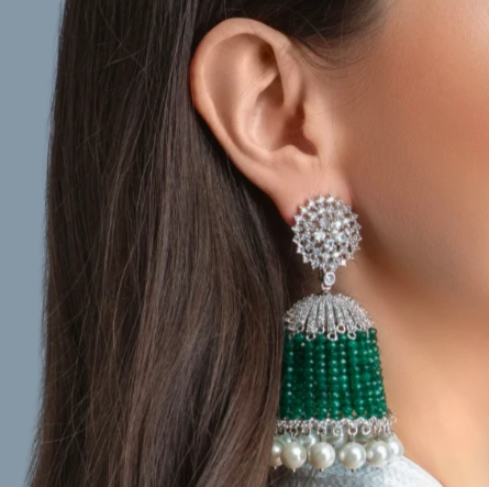 luxury fashion jewelry indian jewelry prom jewelry event party dubai london paris wedding arab arabian pearl choker green emerald jaipur rose jewellery