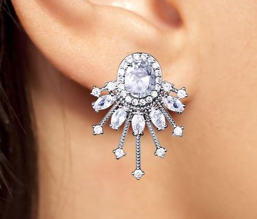 Celine Stud Fashion Statement Earrings by Jaipur Rose Designer Indian Jewelry