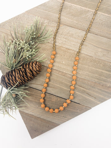 Simple Terracotta Necklace