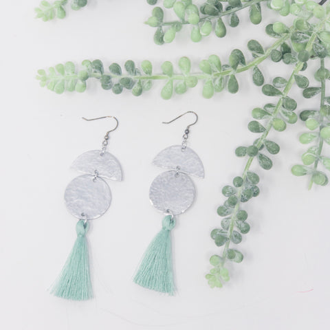 Single Tassel Aluminum Earrings
