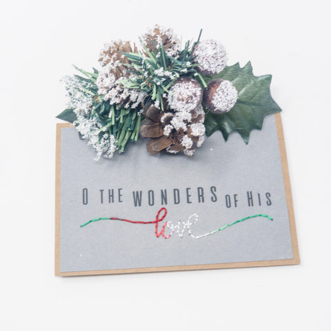 Wonders of His Love Holiday Greeting Cards