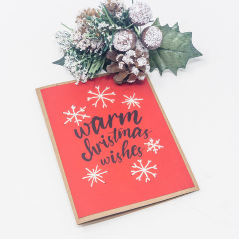 Warm Christmas Wishes Holiday Greeting Cards