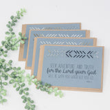 Be Courageous Greeting Cards with scripture