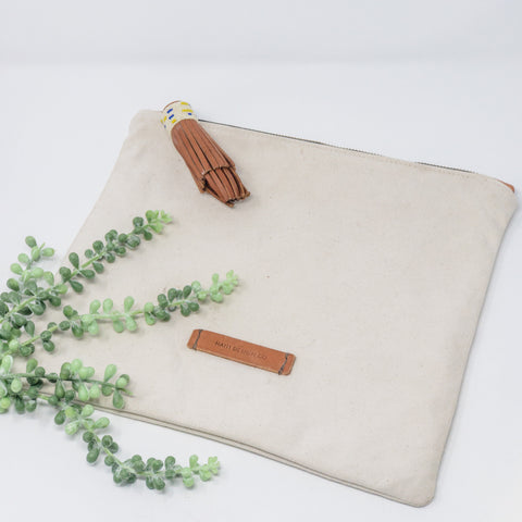 Oversized Canvas Pouch