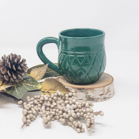 Mini Hunter Green Ananas Mug