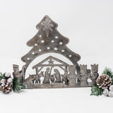 Large 3D Tree Nativity Scene Metal Art