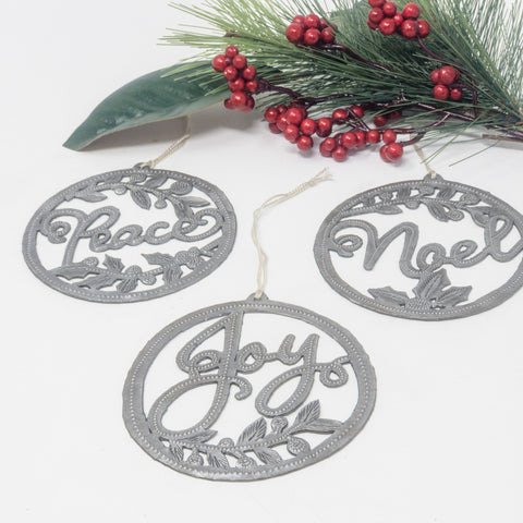 Noel Peace Joy Metal Art Set