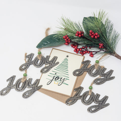 Joy Filled Tree + Joy Ornaments Set