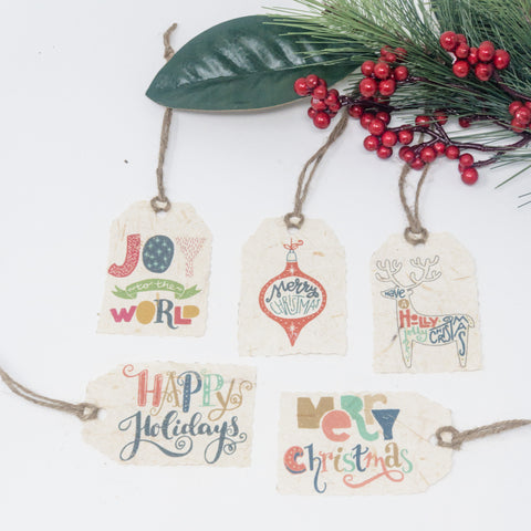 Joy to the World Holiday Gift Tags