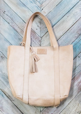 Large Bucket Leather Tote