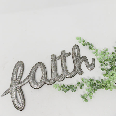 Faith Metal Art Word