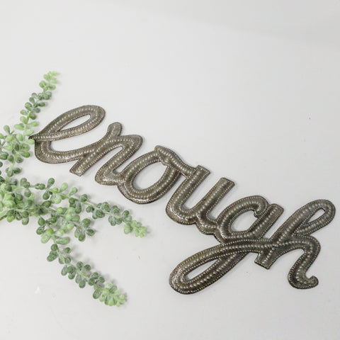Enough Metal Art Word