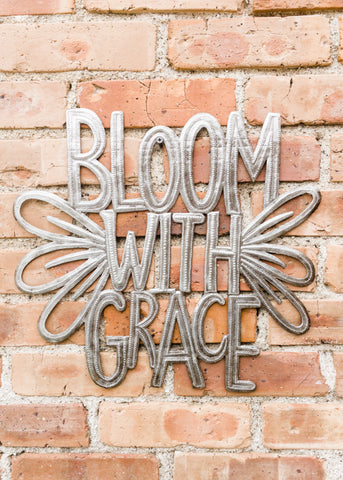 Bloom with Grace Metal Art