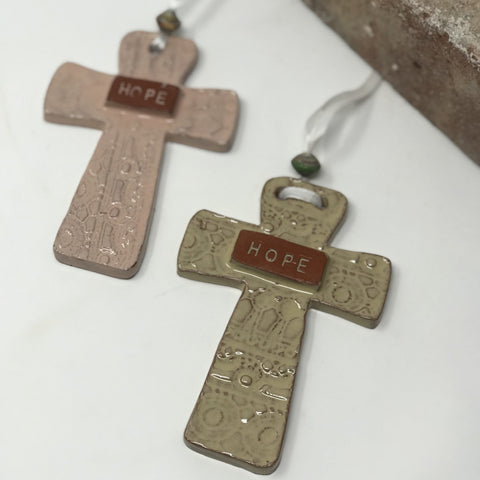 Hope Ceramic Cross