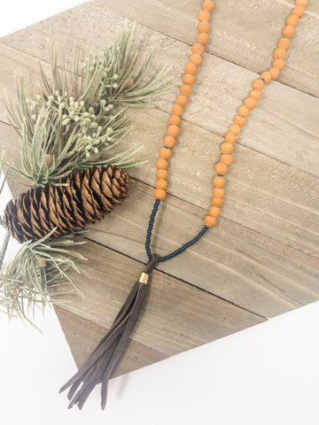 Clay + Tassel Necklace