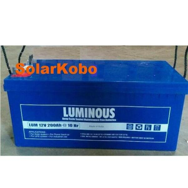 Luminous 200AH 12V AGM Battery (Blue)