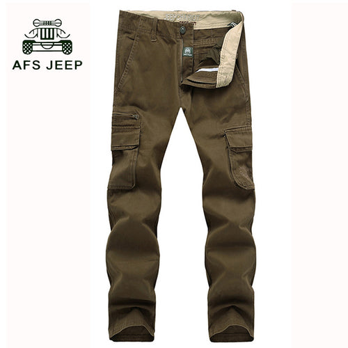 Multi-Pockets Casual Pants Work