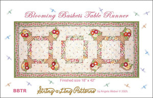 Blooming Baskets table runner from Quilting from the Heartland