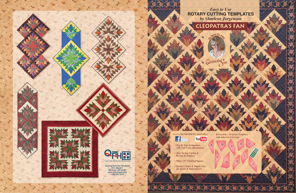 Cleopatra S Fan Acrylic Quilt Template By Quilting From