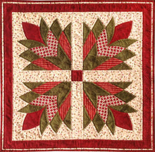 quilt square using cleopatra fan template