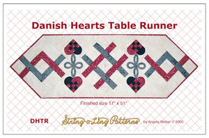 danish heart table runner template