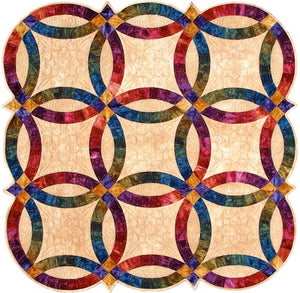 Double Wedding Ring acrylic quilt template by Quilting from the