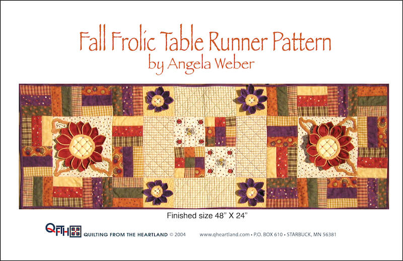 fall frolic table runner quilt pattern