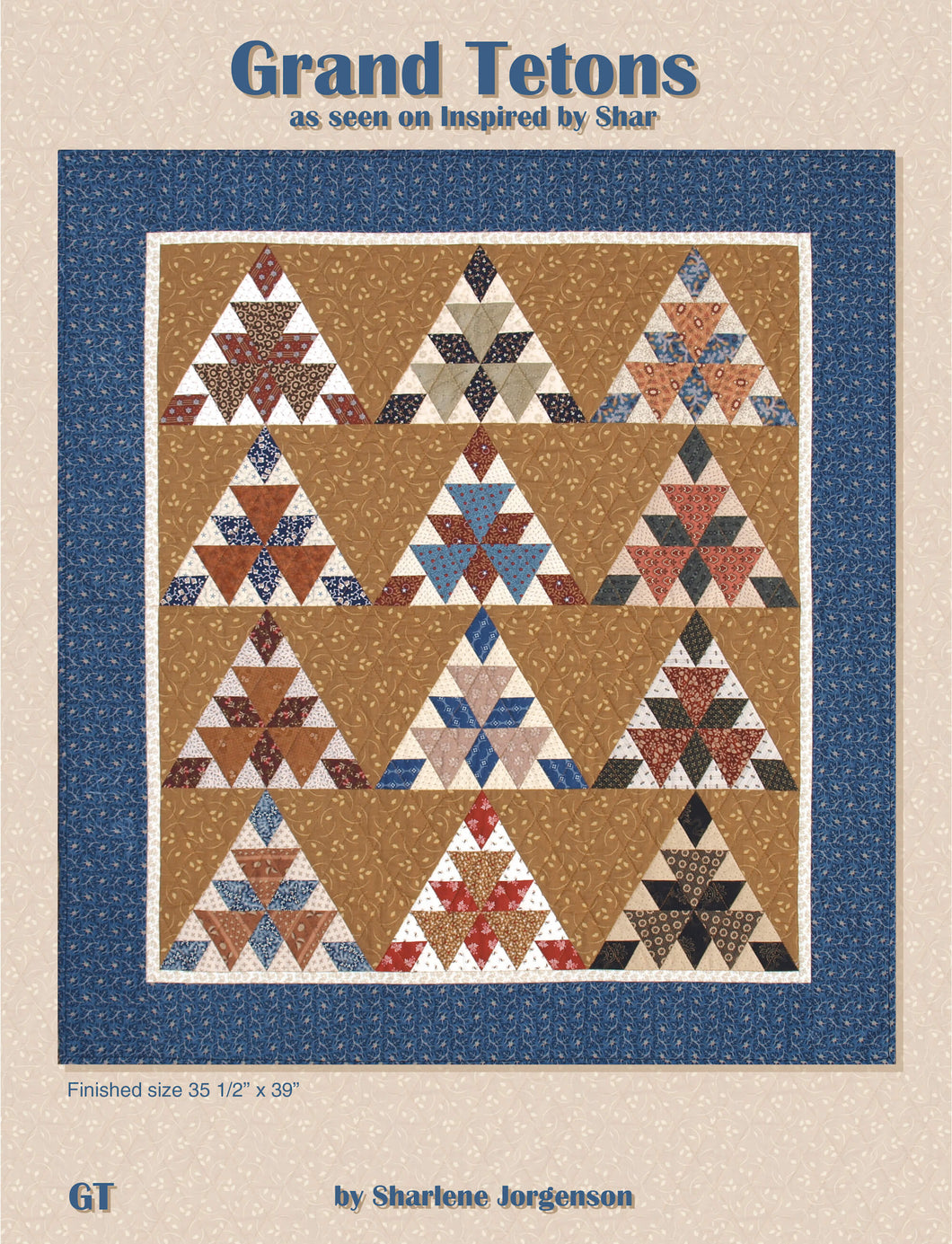 book cover grand tetons quilt pattern