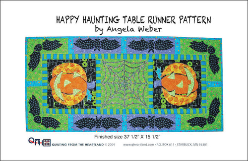 happy haunting table runner quilt design