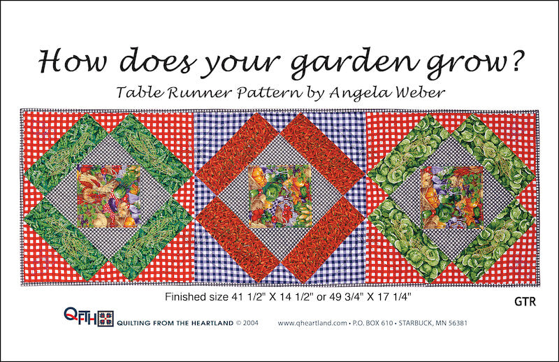 how does your garden grow table runner quilt