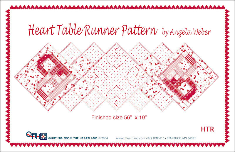 heart table runner quilt pattern
