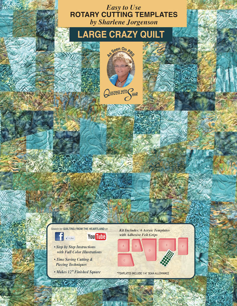 Crazy Quilt | quilt template by Quilting from the Heartland : quilting from the heartland - Adamdwight.com
