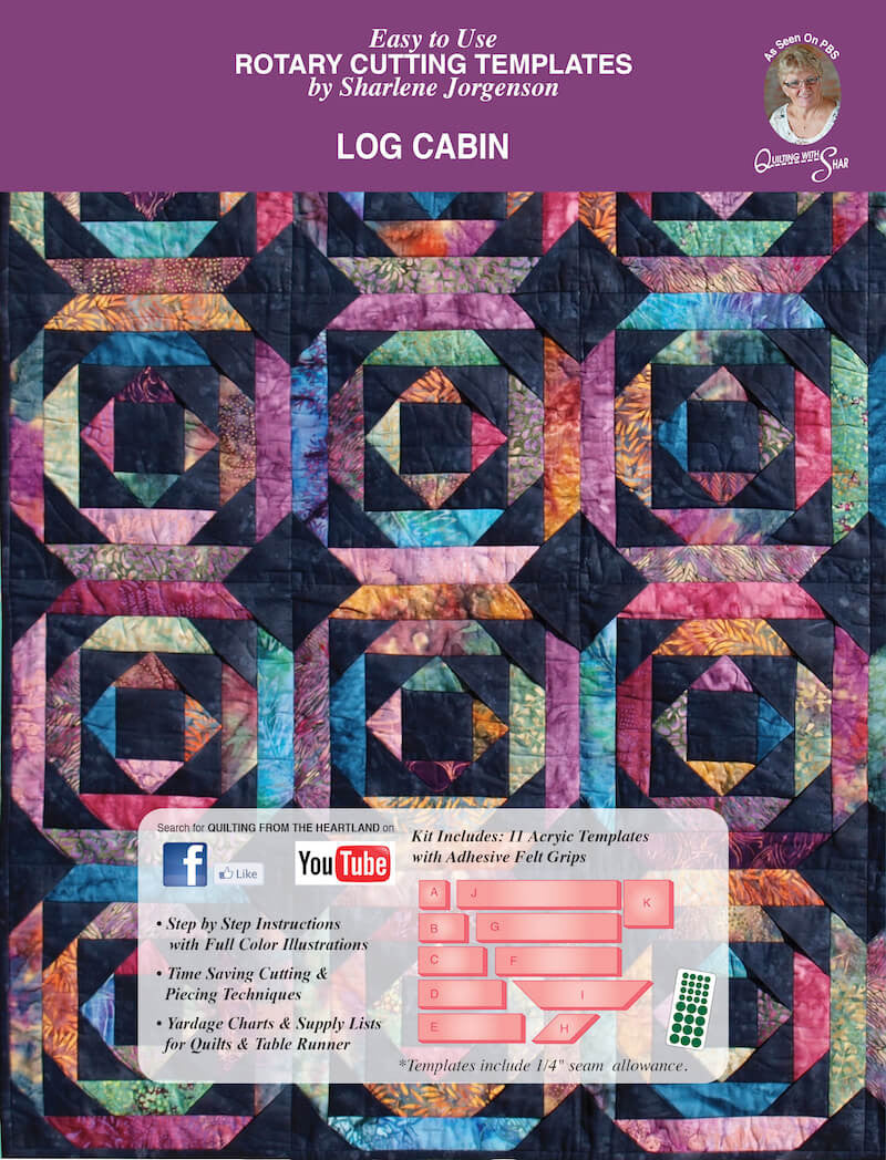 Log Cabin | quilt template by Quilting from the Heartland : quilting from the heartland - Adamdwight.com