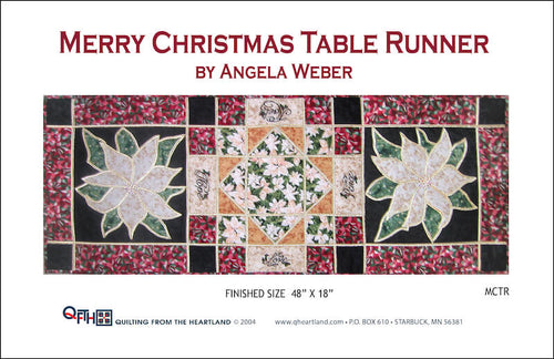 merry christmas holiday table runner quilt pattern